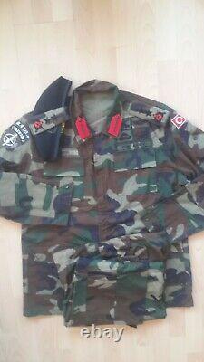 Turkish Army 2000s woodland camouflage uniform bdu camo set XL