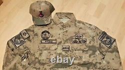 Turkish Army Gendermarie genuine Nco camouflage uniform set XL camo bdu1