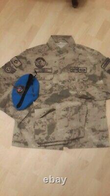 Turkish Army Gendermarie genuine Nco camouflage uniform set XL camo bdu