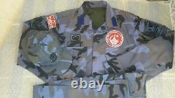 Turkish Army airmen blue woodland Camouflage bdu camo set uniform