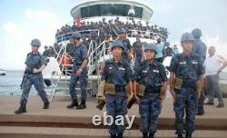 Turkish airfoce 2000s blue woodland camouflage uniform bdu camo set XL