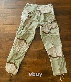US Army Desert Camouflage Uniform Medium Complete Set Coat, Trousers, Hat