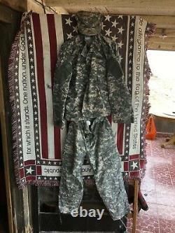 U. S. Army Combat Camouflage Uniform Complete 3-pc Set! Size LARGE