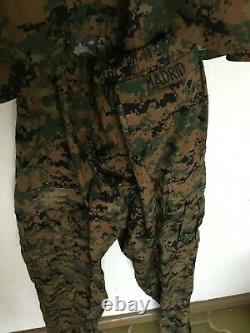 U. S. Marine Maternity Woodland MARPAT Camouflage Uniform Set Name MADRID S-SHORT