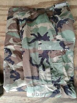 Usmc, U. S. Marines, Set Coat, Pants, Belt, Combat, Woodland Camouflage