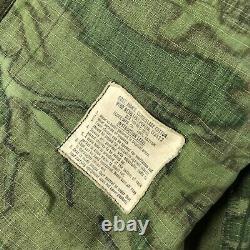 VTG US ARMY VIETNAM 1968 Poplin Tropical Camouflage Jacket & Pants SET Small
