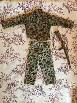Vintage GI Joe Marines Camouflage Uniform and Rifle Set