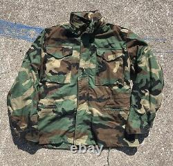 Vtg Mens Us Army Full Set Camouflage Camo Uniform Small Cold Weather Field