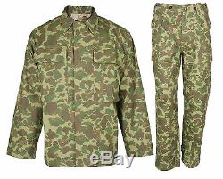 WW2 Us Marine Corps Army Pacific Camouflage Jacket & Trousers Uniform Set M