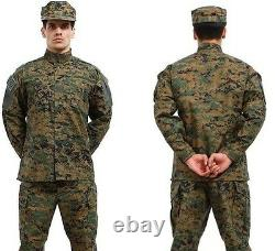XS-XXL Mens Ripstop Camouflage Tactical Military Uniform Suit Jacket Pant 1 Sets