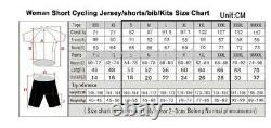 2019 Summer Womens Cycling Jersey Set Camouflage Short Sleeve Bike Sport Uniforme