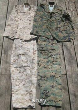 2 Ensembles Marine Corps Marpat Digital Extra Small Desert & Woodland Camouflage Usmc