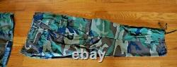 2 Ensembles Us Army Woodland Camouflage Field Jacket & Pants Large Sargent Insignia