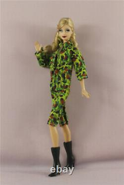 2in1 Ensemble Militaire Armée Camouflage Uniforme +boots Outfit For 11.5 Inch Doll