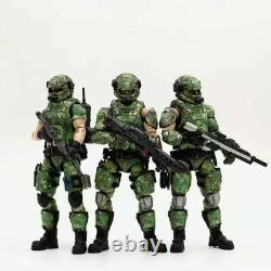 (3 Pcs Set) 1/18 Scale Soldier Russian Person Camouflage Uniform Team Soldier Qg