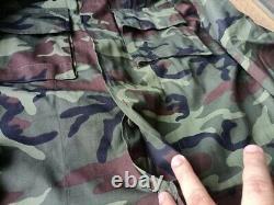 90's Royal Thai Army Camouflage Pattern Ensemble Uniforme Chemise & Pantalons Nouveau