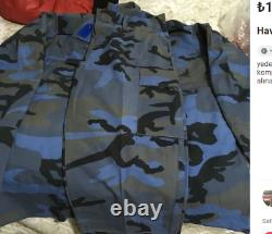 Airfoce Turc 2000s Bleu Forêt Camouflage Uniforme Bdu Camo Ensemble XL