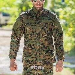 Armée Militaire Tactique Hommes Veste Pantalon De Combat Ensembles Swat Bdu Uniforme Camouflage