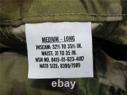 Army Ocp Scorpion Camouflage Uniform Set Medium/long Top & Pants Matériel Normal