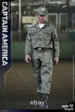 Capitaine America Camouflage Ver. Ensemble D'uniforme Militaire Vert