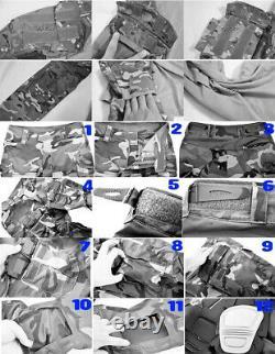 Chemise À Manches Longues De Combat Et Pantalons Trous Knee Pads Set Tactique Uniforme Militaire