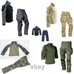 Chemise À Manches Longues Et Pantalons De Combat G3 Knee Pads Ensemble Uniforme Tactique