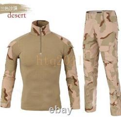 Chemise Et Pantalon De Combat Tactique Pour Hommes Ensemble Uniforme Militaire Multicam À Manches Longues