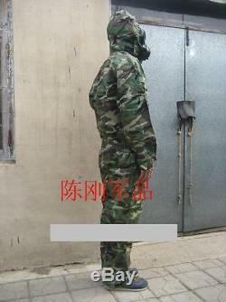 Chine Pla Chemical Corps Woodland Camouflage Combat Habillement, Chapeau, Type Fff02, Set