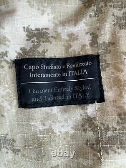 Ensemble De Camouflage Deserto Militaire Italien, Chemise, Pantalon, Chapeau Boonie, Taille XL