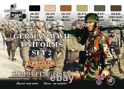 Ensemble De Camouflage Lifecolor German Wwii Uniforms. 2 Morues. Cs05 (en)