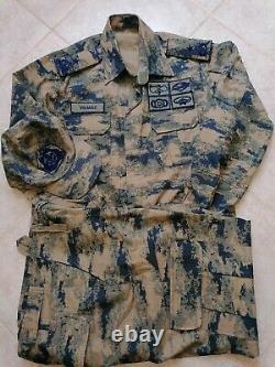 Ensemble De Camouflage Numérique Des Généraux De L'armée De L'air Turque