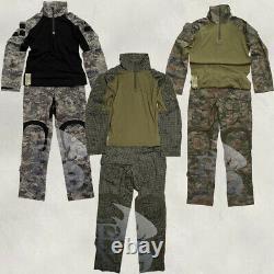 Ensemble De Vêtements Tactiques De Combat Uniforme Manches Longues Pantalons Pantalons Chasse