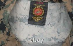 Ensemble Large Reg Marine Corps Marpat Digital Woodland Camouflage Pantalon Shirt Usmc