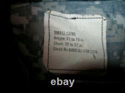 Ensemble Us Navy Blue Digital Camo Military Uniform Jacket Pants Homme Sz Sm. Long 33