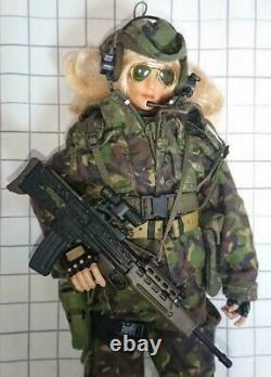 Figure Militaire Personnalisée 1/6 Uniforme Militaire Camouflage Et Équipement + Ensemble De Carrosserie