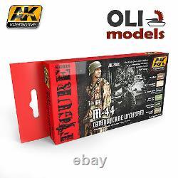 Figure Series Allemand M-44 Camouflage Uniforme Ensemble 6x17ml Ak Interactive 3020