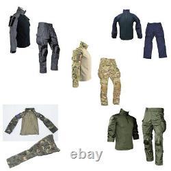 G3 Combat Chemise À Manches Longues - Pantalons Genouillères Ensemble Tactique Militaire Gen3 Uniforme