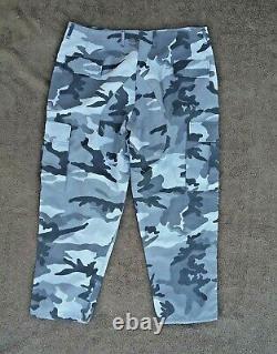 Homme M/l Noir & Gris Camouflage Coat & Pants Uniforme Ensemble Avec Tissu Ripstop