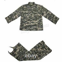 Hommes Airsoft Military Tactical Combat Bdu Uniforme Veste Pantalons Ensembles De Costumes Swat