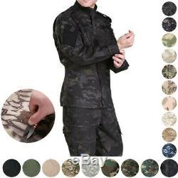 Hommes Armée Veste Pantalon De Combat Tactique Militaire Ensemble Uniforme De Camouflage Extérieur