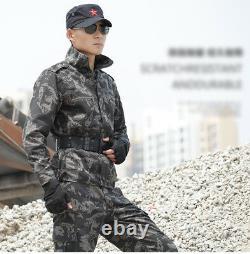 Hommes Camo Military Tactical Cotton Army Jacket+pants Combat Uniform Set Outdoor