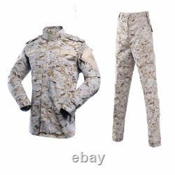 Hommes Costume De Camouflage Uniforme Noir Soft Air Équipement Paintball Microfibre Clothe