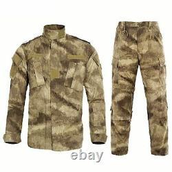 Hommes Uniforme Militaire Multicam Noir Costume Camouflage Tactique Vêtements Paintball