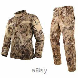 Hommes Veste Pantalon Costume Manteau Militaire Tactique Pantalon Combat Armee Uniforme