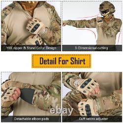 Idogear Hommes G3 Assault Ensemble D'uniforme De Combat Avec Knee Pads Multicam Camouflage Tac