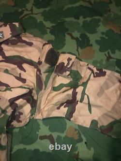 Italien Desert Bdu Arid Camo Camouflage Set 56 Chest 40w X 30l Set Jacket Pants