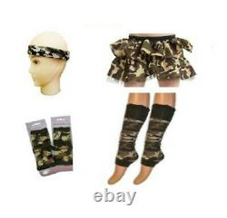 Ladies Camouflage Army Soldier Fancy Dress Costume Militaire Outfit Hen Party Do
