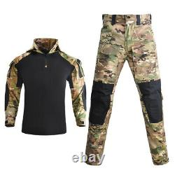 Les Nouveaux Hommes Tactique De Camouflage Armée Combat Militaire Pantalon T-shirt Set Swat Uniformes