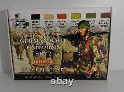 Lifecolor Cs-05 Uniformes Allemands De La Seconde Guerre Mondiale Set2 Camouflage Set 6 Farben Neu & Ovp