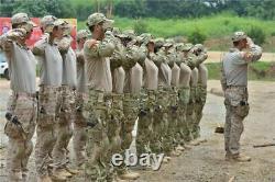 Men's Army Military Tactical Shirt Pants Airsoft Combat Uniform Bdu Camo Sets